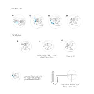 Image 5 - Kaymaz kavrama kolu eylem kamera yüzen el kavrama PGYTECH spor kolu Tripod DJI OSMO için eylem kamera