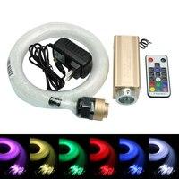 NEW 9W LED RGB fiber optic Star Ceiling Kit light 0.75mm Optical Fiber with 18key Remote Control Illuminator Decoration Lights
