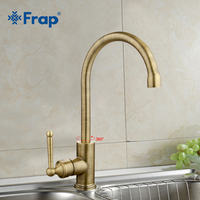 FRAP New Single Handle Kitchen Faucet Antique Bronze Crane Taps Hot And Cold Water Mixer 360