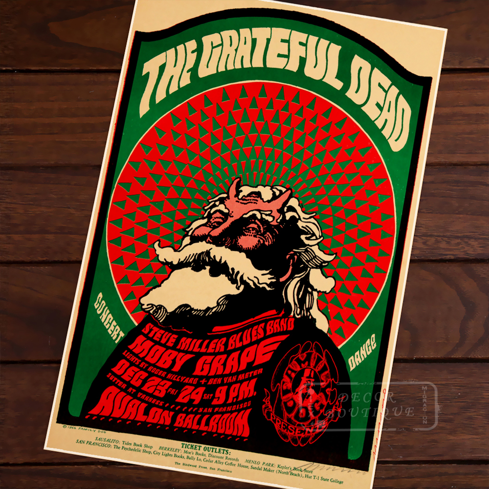 the grateful dead rock music band psychedelic vintage retro