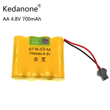 Kedanone original new AA battery pack 4.8 V 700mAh NI-CD electric toy aircraft RC boat remote control car vacuum cleaner battery image