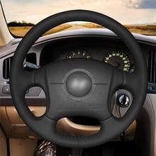 High quality Black Artificial Leather anti-slip customized car steering wheel cover For Hyundai Elantra 2004-2011 цена и фото