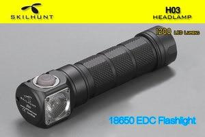 Image 4 - NEW Skilhunt H03 H03R H03F Led flashlight Lampe Frontale Cree XML1200Lm flashlight Hunting Fishing Camping flashlight+headband