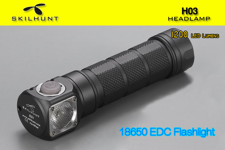 Nouveau Skilhunt H03 H03R H03F Lampe Frontale Led Lampe Frontale Cree XML1200Lm phare chasse pêche Camping phare + bandeau - 3