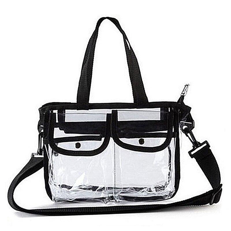 Women Summer  PVC Shoulder Bag Handbag Travel Tote Cosmetic Beach Toiletry Storage Case