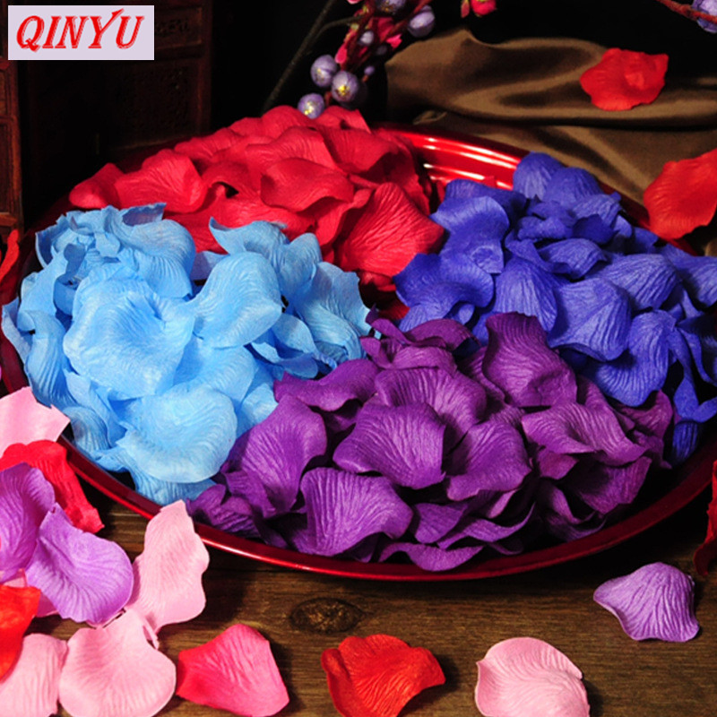 1000pcs Romantic Artificial Rose Petal DIY Wreath Fake Flowers  Home Decoration Wedding Party Silk Flower Leaf 7ZSH012