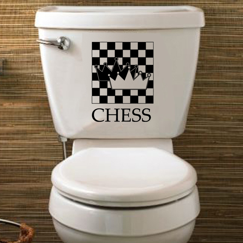 Chess Player Chessman Fashion Home Decor Vinyl Wall Decal Toilet Sticker 6WS0141 image