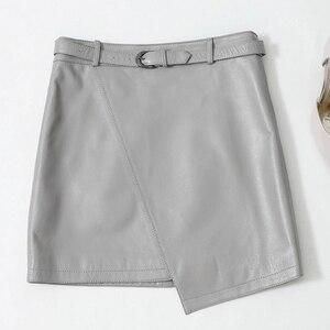Image 1 - 2019 New Leather Sheepskin Skirt High Waist Skirt J14