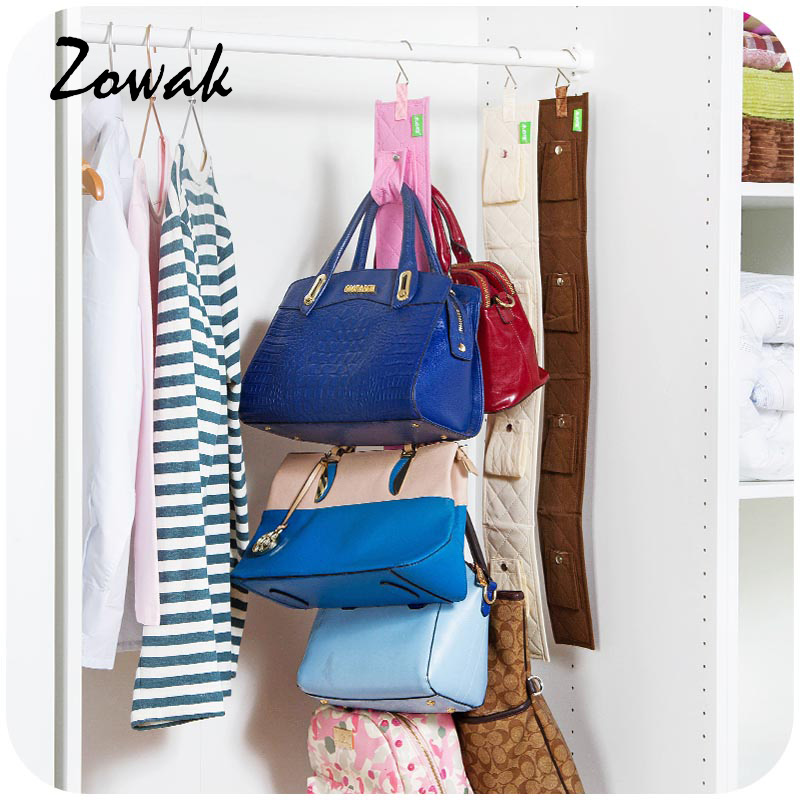 Hanging Handbag Closet Organizer Purse Storage 6 Hook Door Collection Hanger  Hat Bag Strap Belt Clothes