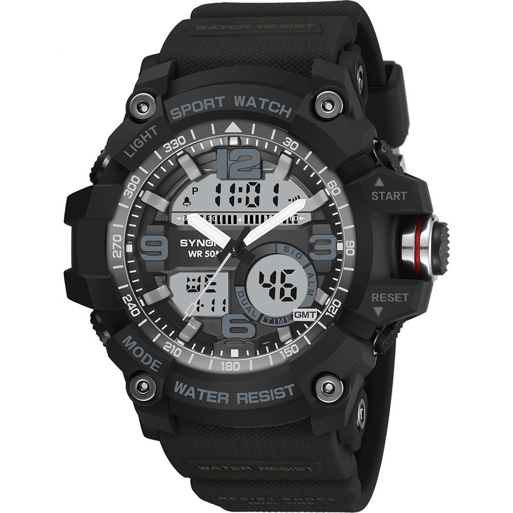Hot Men Waterproof Dual Time Luminous Calendar Chronograph Quartz Sports Wrist Watch цена и фото