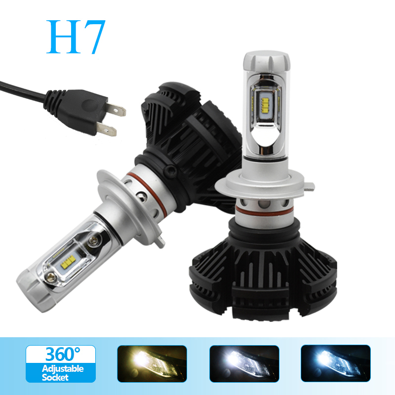 H7 Car LED Light Bulb Headlight Conversion Kit Replacing Car Lamp Low Beam for Auto Driving Lights with Fanless