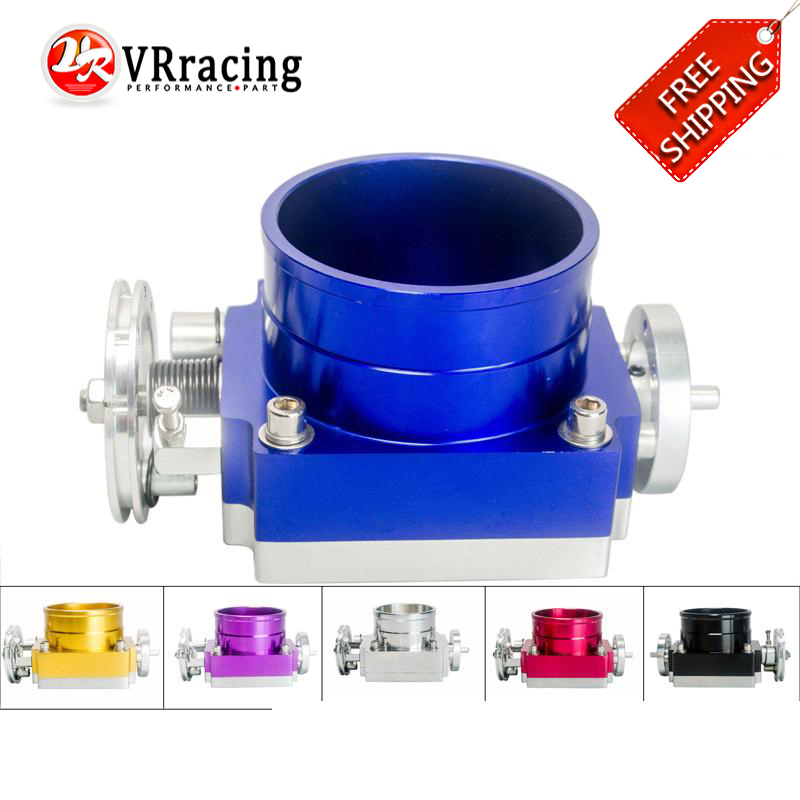 FREE SHIPPING HIGH FLOW NEW 90MM THROTTLE BODY PERFORMANCE INTAKE MANIFOLD BILLET ALUMINUM VR6990 pqy racing free shipping new 90mm throttle body performance intake manifold billet aluminum high flow pqy6990