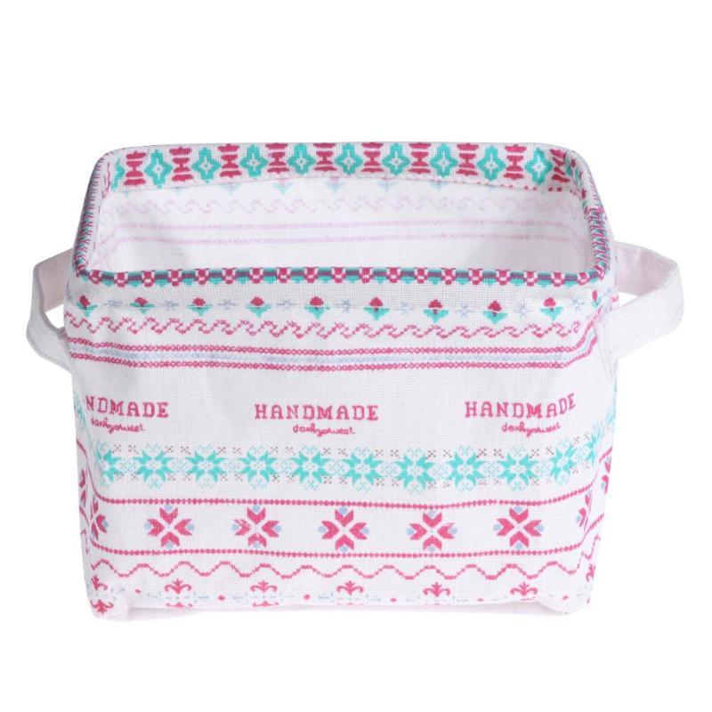 Desktop Holder Organizer Box Storage Jewelry Cosmetics Simple Fashionable Folding Makeup Basket Gift Bag for Toys Book Towels
