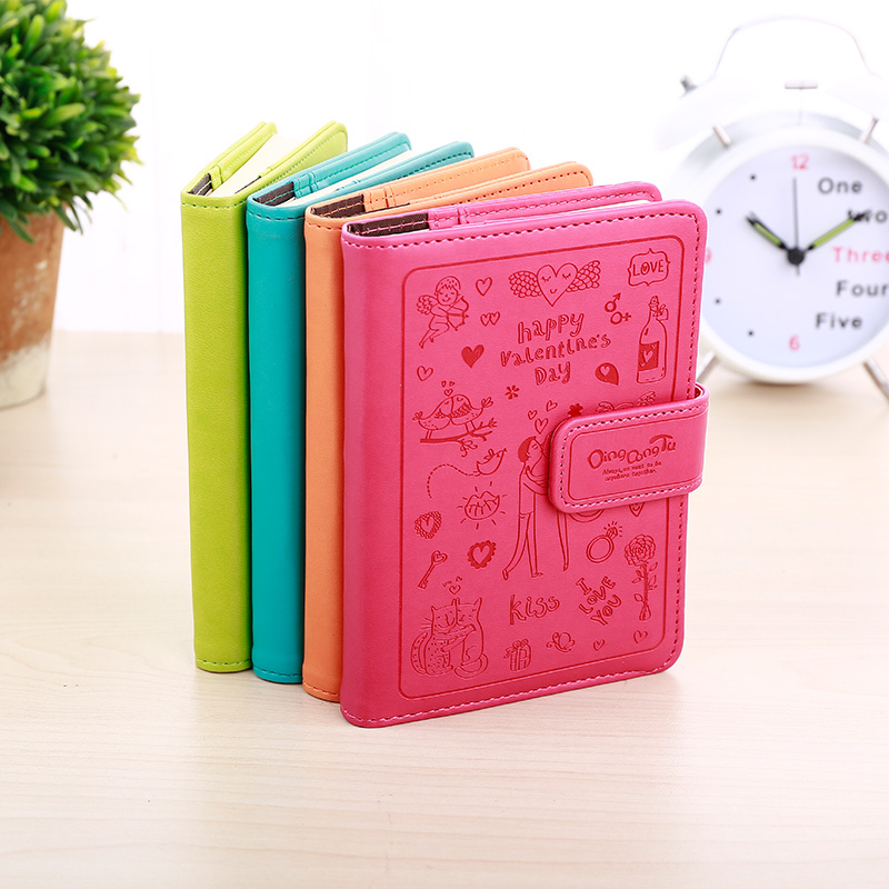 Fromthenon Creative Cute Soft Leather Cover Notebook Diary Book Kawaii Note Pad Korean Stationery Student Gift School Supplies lovedoki cute leather cover notebook a5a6 planner personal diary book for girls gift korean kawaii stationery school supplies