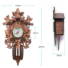 Cuckoo Wall Clock Bird Wood Hanging Decorations for Home Cafe Restaurant Art Vintage Chic Swing Living Room Wall Clock