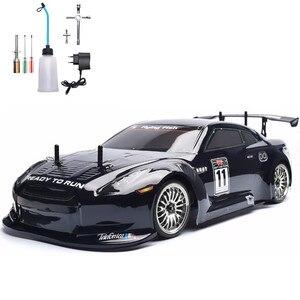 Image 1 - Samochód zdalnie sterowany HSP 4wd 1:10 na wyścigi drogowe dwie prędkości Drift pojazdu zabawki 4x4 Nitro Gas Power High Speed Hobby zdalnie sterowanym samochodowym