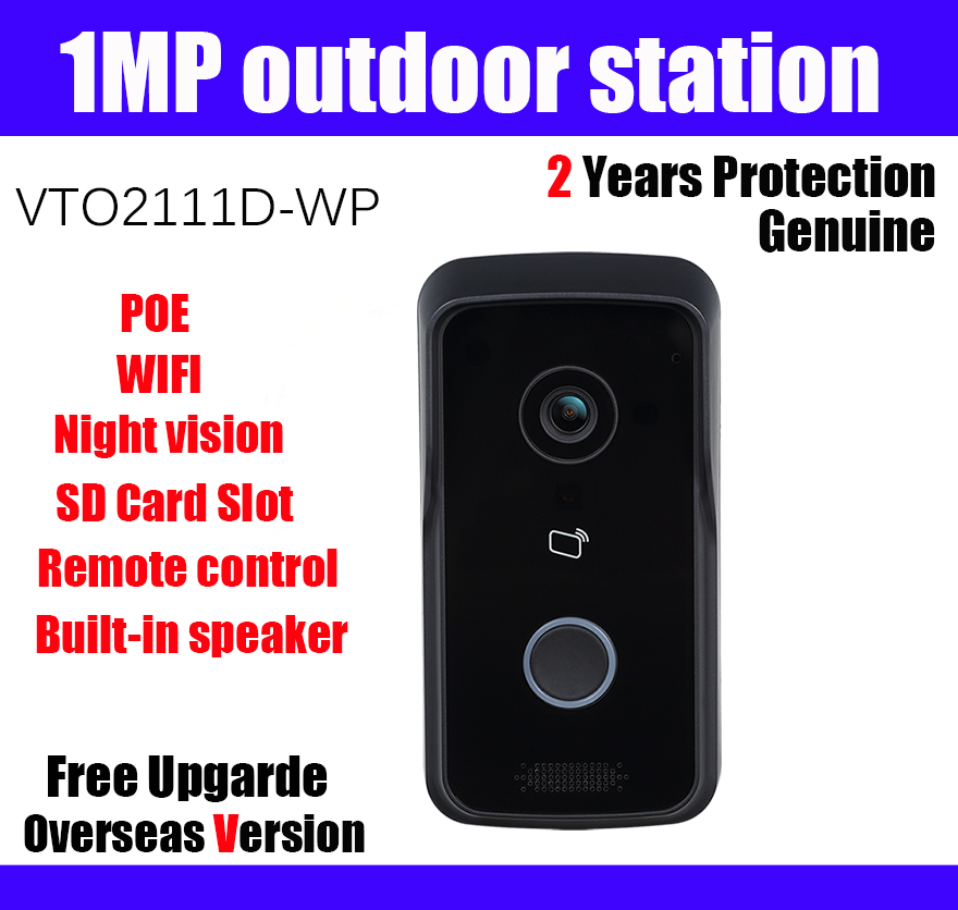 US $87 73 20% OFF|1MP Villa Outdoor Station Wi Fi VTO2111D WP POE Night  vision Voice indication Video Intercom Doorbell Without Logo-in Doorbell  from