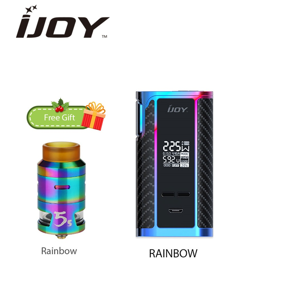 Electronic Cigarette IJOY Captain PD1865 225W TC MOD with 2.6ml RDTA 5S Tank Max 225W Output Huge Power Vs PD1865 Box Mod Vape electronic cigarette kits smoant charon tc 218 rdta kit vaporizer vape box mod e cigarette hookah with battlestar rdta x2077