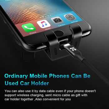 Coolreall Qi Wireless Charger Car Holder for IPhone XR XS Max X Samsung Automatic Intelligent Sensor Fast Wireles Air Vent Mount