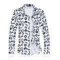2017 Mens Camisas de Lunares de Los Hombres Camisa de Manga Larga de Impresión de la Pluma de Estilo Hawaii Algodón Mercerizado Masculina Social Camisas Más El Tamaño