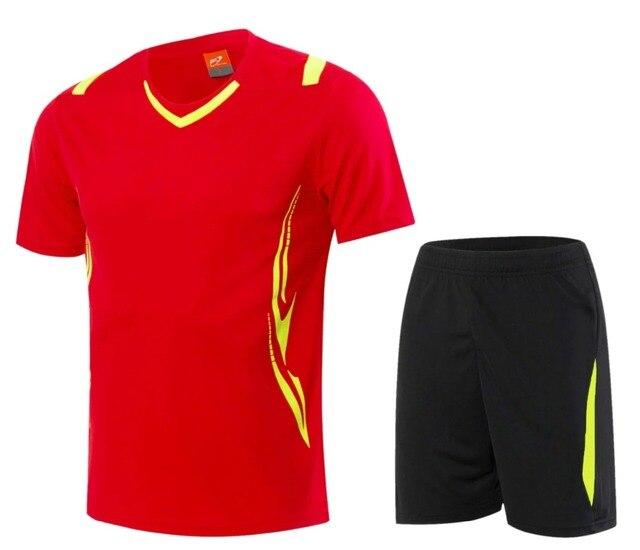 742bb6c382755 2018 2019Red fútbol ropa deportiva traje de manga corta equipo de fútbol  personalizada number formación