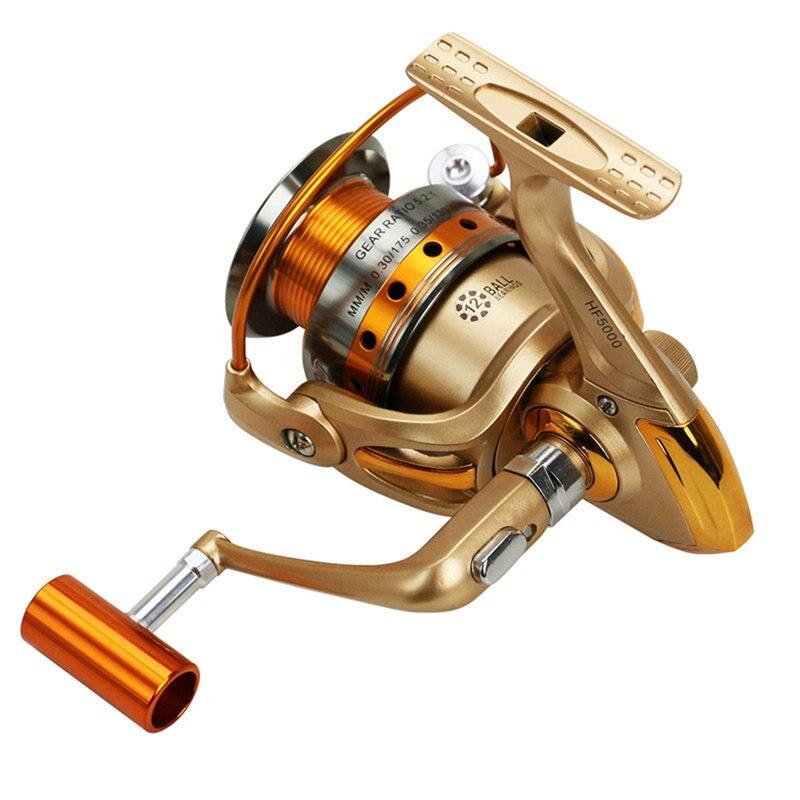 Yumoshi Brand 12BB Fly Saltwater Spinning Wheel Ocean Sea Boat Ice Fishing Tackle Reel Metal Trolling Spinning HF500-9000