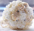 Best Selling Arabic style Bridal Bridesmaid Flower wedding bouquet artificial flower rose bridal bouquets With pearls Crystal