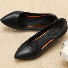 YALNN moda Primavera gran tamaño nuevo 3/5/7 cm Retro clásico mujer Niña de boda zapatos bombas fiesta señora puntiagudos tacones altos
