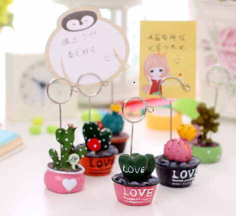 [4Y4A] 1pcs Creative plant pot photo message placed clip greeting card greeting card holiday gift Guestbook Get Envelopes