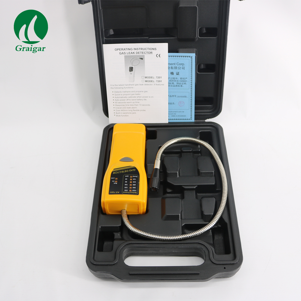 AZ7201 Checking Combustible Gas Leak Handheld Type Detector Quality & reliable semi-conductor sensorAZ7201 Checking Combustible Gas Leak Handheld Type Detector Quality & reliable semi-conductor sensor