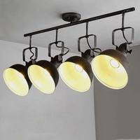 Vintage Lamp Ceiling Led Lights For Home Decor Industrial Chandelier Living Room Lighting Rust Black Wrought Iron Fixtures 220V