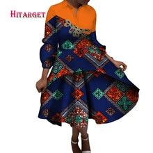 2019 africa style prints dresses for women elegant african dashiki print clothing Knee-length dress wy3810