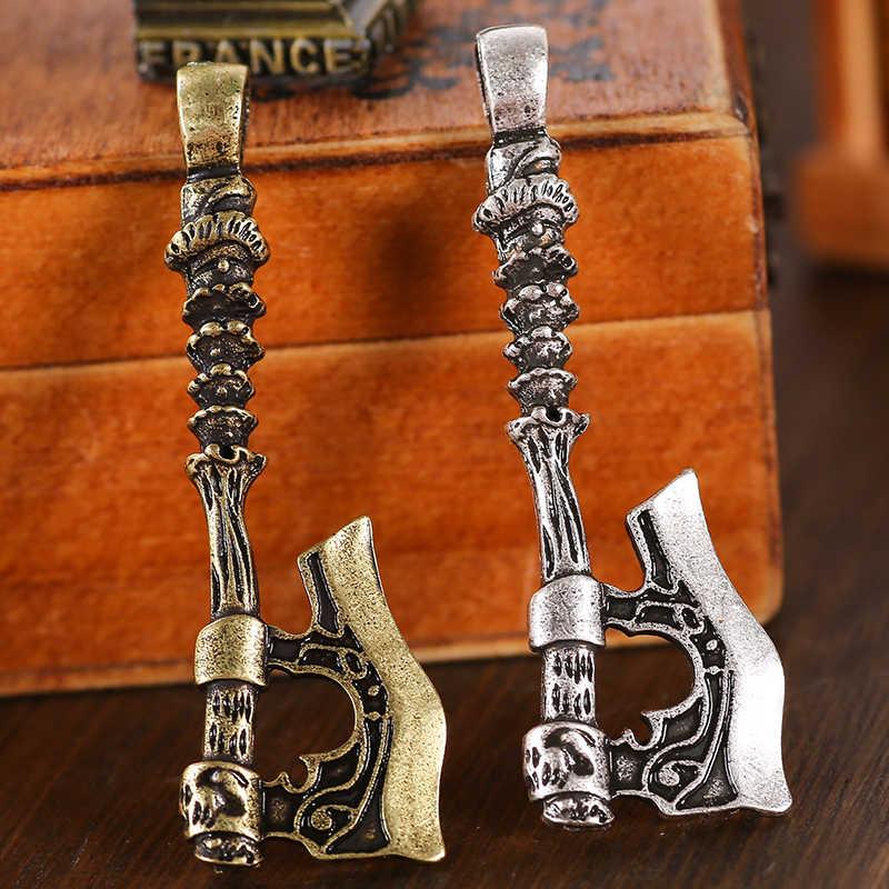 1pc Peru Flash topór wisiorek Pagan Viking Norse biżuteria dwustronnie Drop Shipping