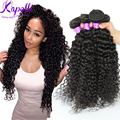 8A Brazilian Virgin Hair Brazilian Kinky Curly Virgin Hair 4 Bundles/lot Virgin Brazilian Curly Hair Deep Curly Weave Human Hair