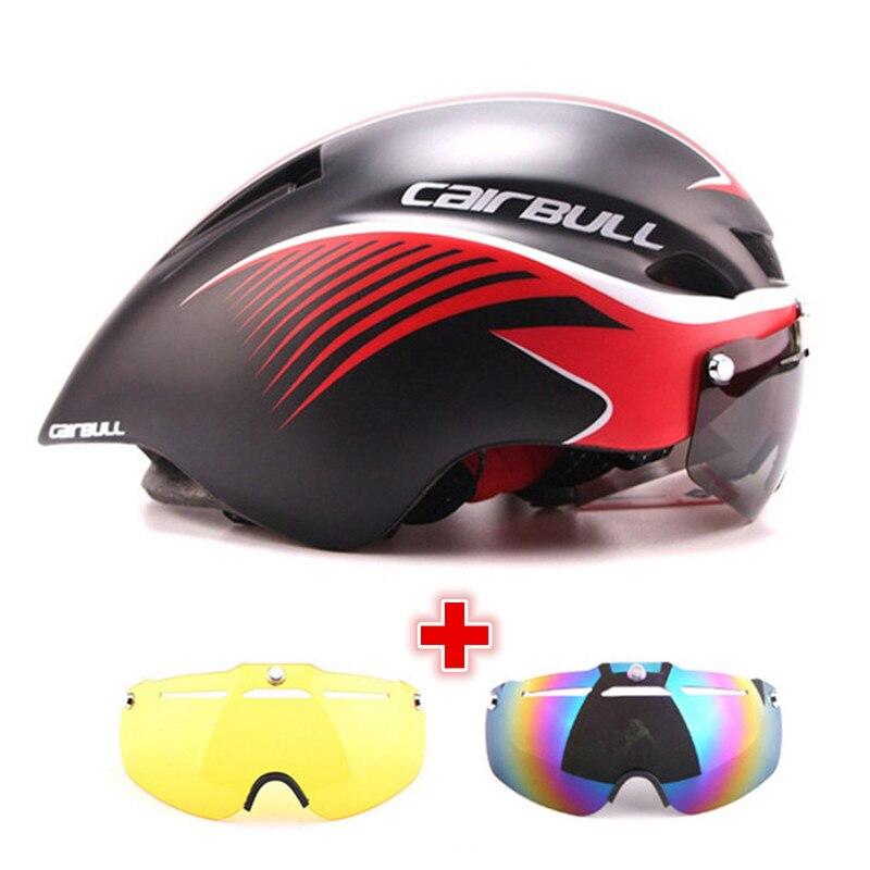 3 レンズ 290 グラムエアロ TT ゴーグルバイクヘルメット Mtb ロード自転車スポーツ安全ヘルメット乗馬男性で  型期間トライアルサイクリングヘルメット  グループ上の スポーツ & エンターテイメント からの 自転車用ヘルメット の中 1