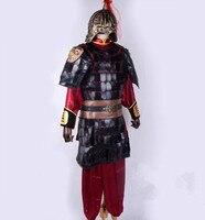 Китайский Броня костюм воин Броня костюм для мужчин Хуа Мулан костюм Древняя китайская Костюм Солдата