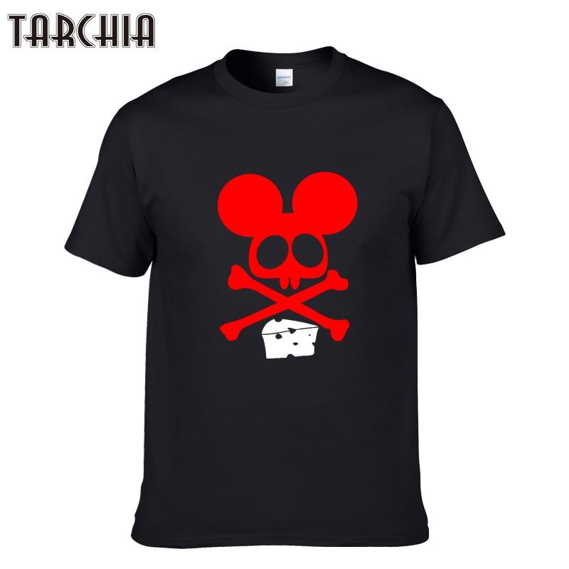 TARCHIA 2018 New Fashion Mens T-Shirt Brand Clothing Casual Funny Tshirts Print Streetwear T Shirt Men 100% Cotton Tees Tops