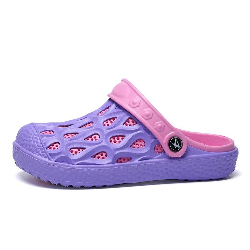 De D'été Pantoufles Mujers Rose Plage Femme Sandales Sandalias Air En Femmes Trou Zapatos Plein D'eau Respirant Red purple Occasionnels Chaussures EwqdIa