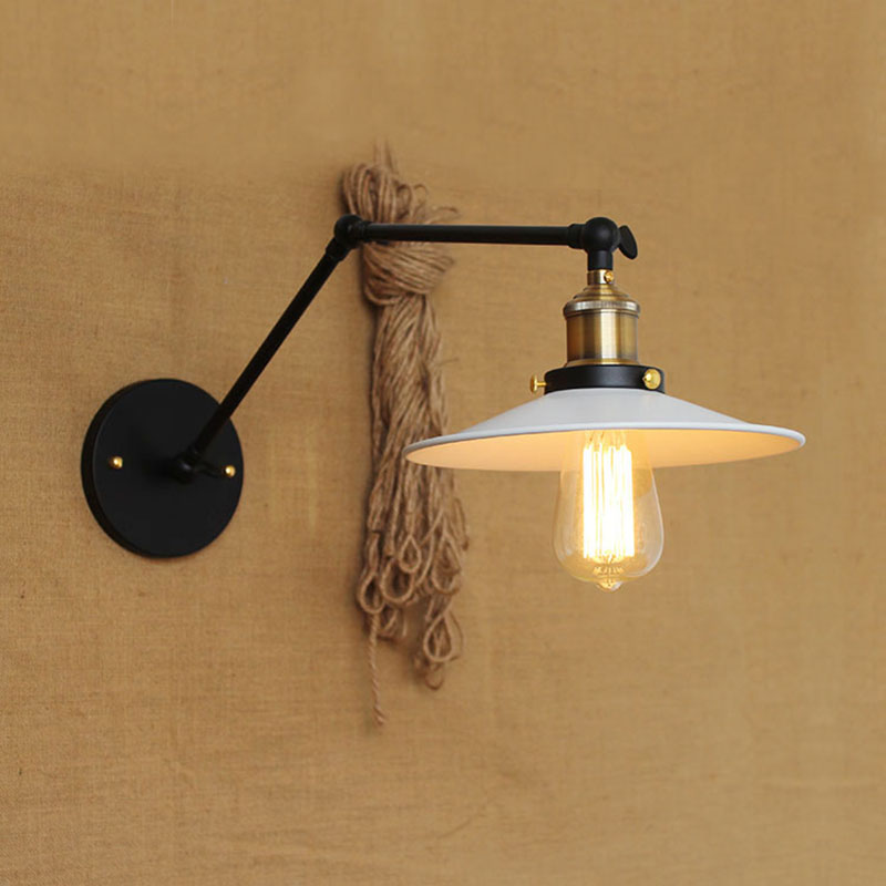 Modern Metal Classic Mechanical Swing Arm Adjustable Wall Lamp Wall Lighting For Workroom Loft