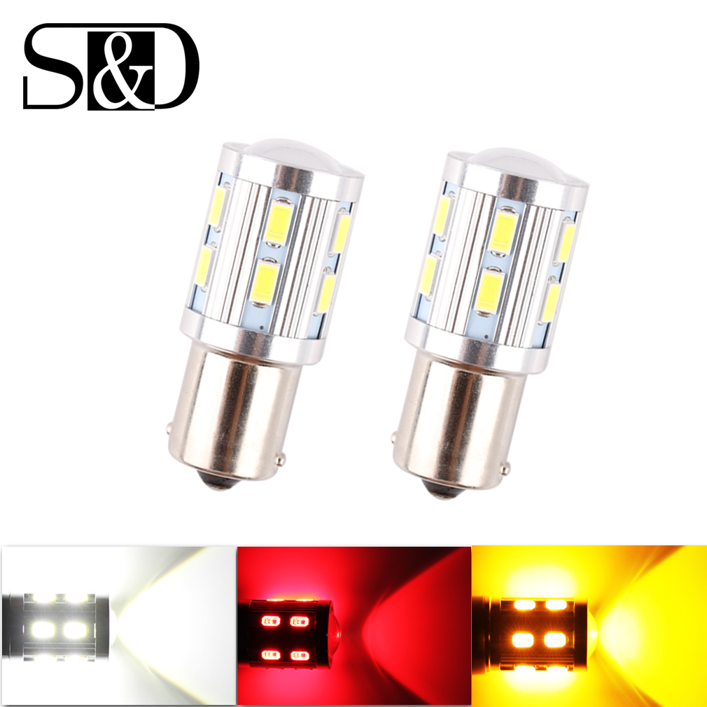 6pcs 1156 BA15S Bright 360-Degree led Bulbs p21w R5W Light Cree LED Chips car Brake Tail Light Reverse Signal Backup Bulbs D030