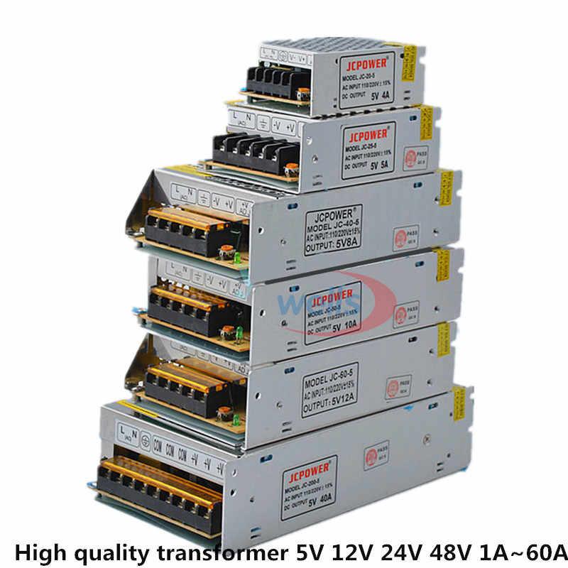 De boa qualidade LED DC5V 12 V 24 V 36 V 48 V Adaptador de Energia Tira a AC100-240V 1A 2A 3A 4A 5A 6A 10A 20A 30A 40A 50A 60A Poder fornecer