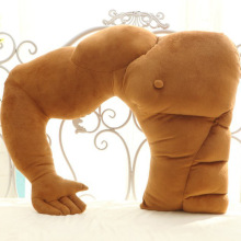 VOZRO Originality Cartoon Arm Muscle Male Cushion Boyfriend Sleep Neck Travel Body Knee Pillow Gift Cuscini Kissen Cojin Viaje