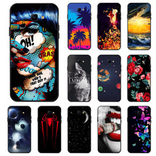Ojeleye Fashion Black Silicon Case For Samsung Galaxy J4 Core Cases Anti-knock Phone Cover J410 Covers