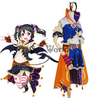 Love Live School Idol Project Yazawa Nico Halloween Fancy Dress Uniform Outfit Anime Cosplay Costumes