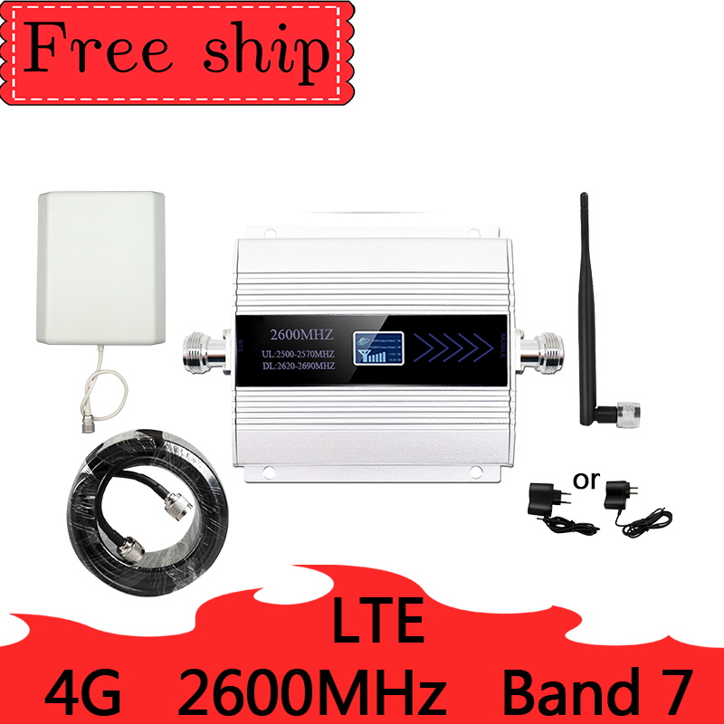 LTE 2600mhz  4G Cellular Signal Booster 4G Mobile Network Booster Data Cellular Phone Repeater  Amplifier Band 7 9dbi Antenna