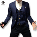 2016 New Men Blazers and Jackets Herren Anzug Veste De Loisir Men Men's Casual Fashion Slim Fit Long Sleeved Single Button Suits