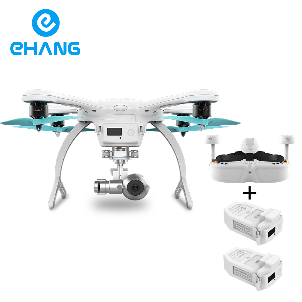 Ehang GHOSTDRONE 2.0 VR Quadcopter With 4K HD Sports Camera For Photographer,include two Batteries PK walkera drone Phantntom 3