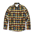 2016 Autumn and winter new style Europe Men's High-grade Long sleeve shirt 3D printing fashion trend clothing tops free shipping