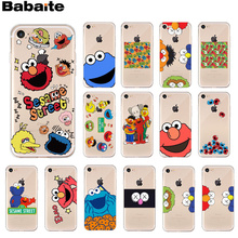 Babaite Sesame Street Newly Arrived Transparent Cell Phone Case for Apple iPhone 8 7 6 6S Plus X XS MAX 5 5S SE XR Cellphones