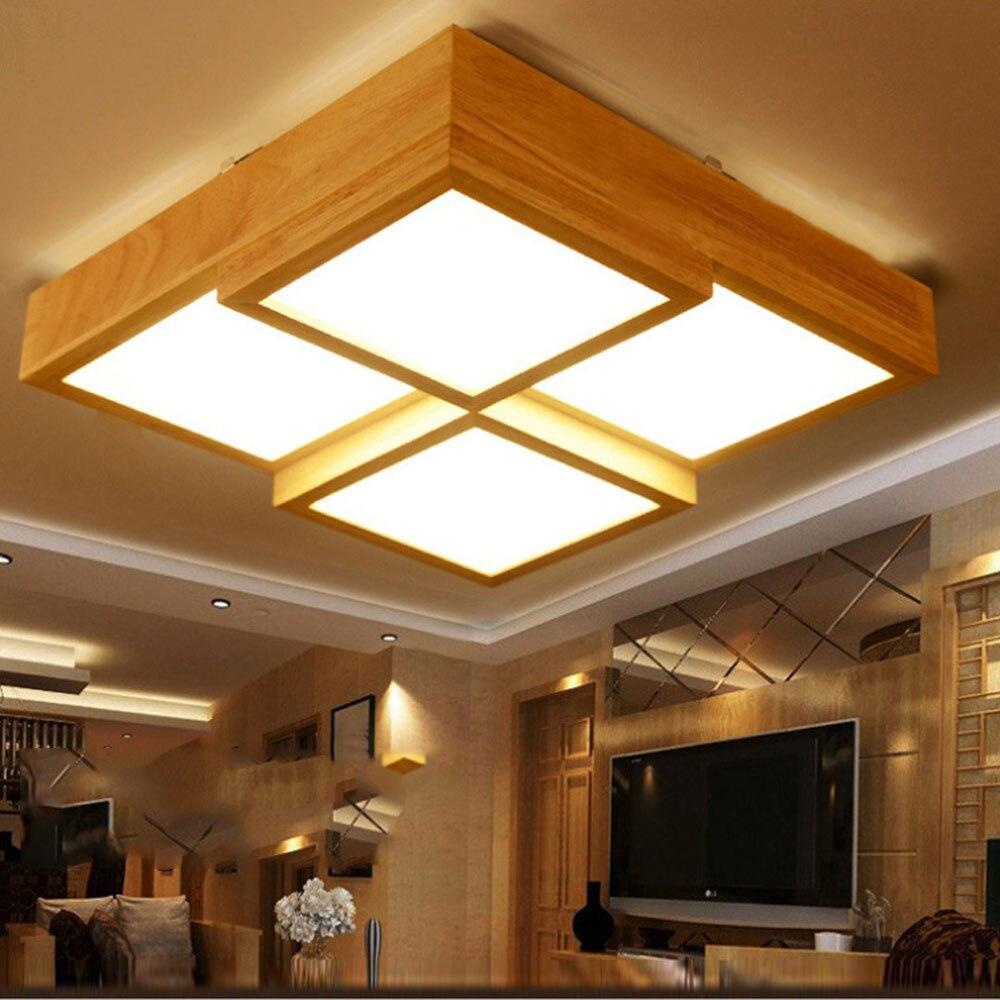 Retro Europischen Stil Deckenleuchte Wohnzimmer Schlafzimmer Lampe Decke Kreative Platz Led Oak Beleuchtung